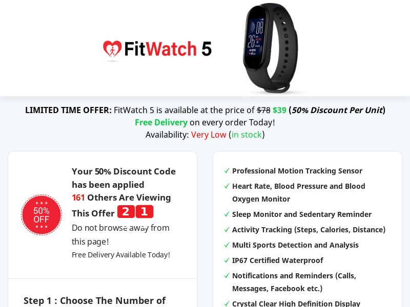FitWatch 5 - Presell - 50% Off