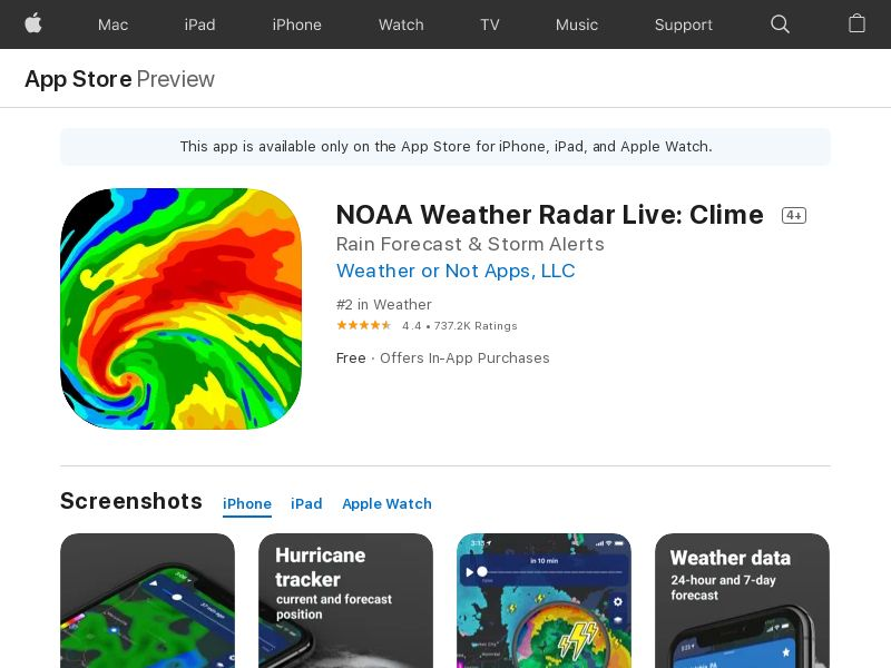 NOAA Weather Radar Live iOS US #123# tp [Placements / CR / Device ids]_CPI