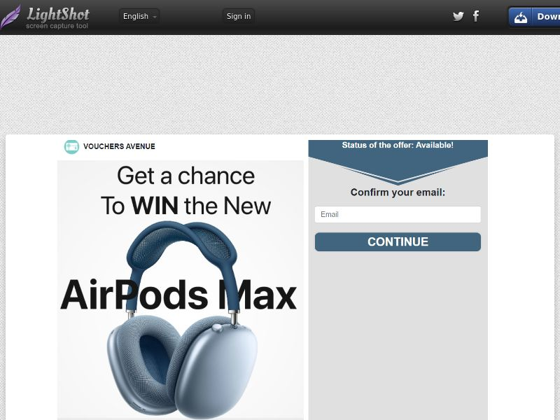 Vouchers Avenue - Airpod Max (US) (CPL) (Personal Approval)