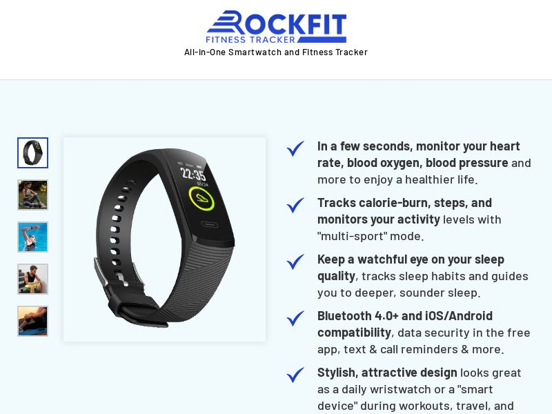 E-Commerce - RockFit Watch V3 T1/T2 GEOs (110 accepted countries) - Straight Sale (ENGLISH LP)
