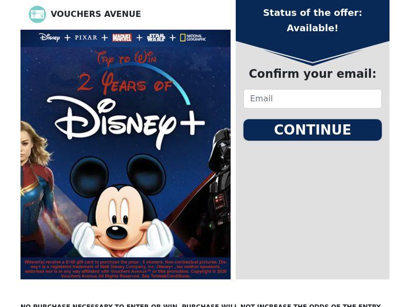 Vouchers Avenue - Disney + - CPL - US [EXCLUSIVE]