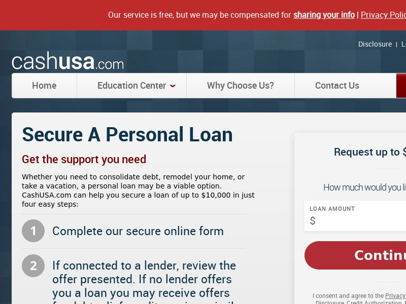 Cash USA - Secure a personal loan - US - Non-Incent