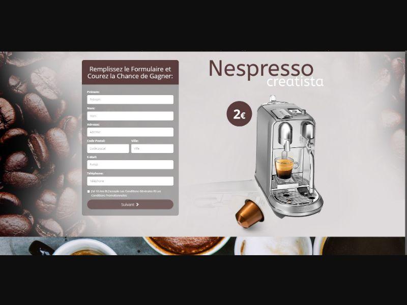 Nespresso Creatista - Sweepstakes & Surveys - Trial - [FR]