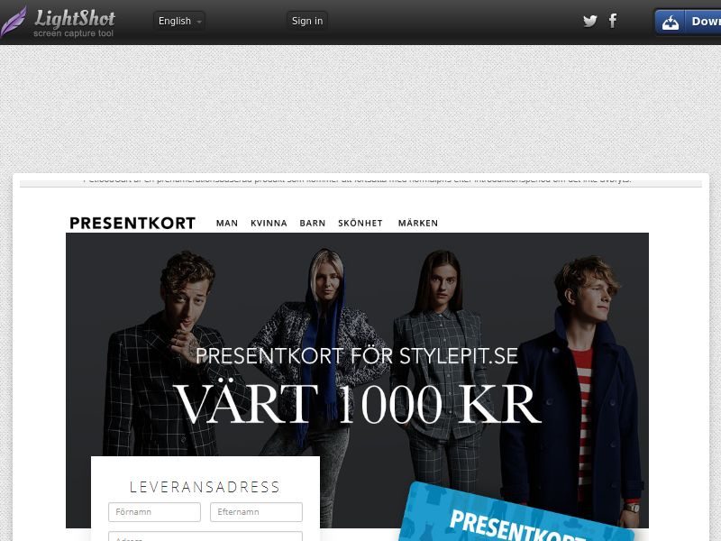 Stylepit Fashion Voucher (Sweepstake) (CC Trial) - Sweden [SE]