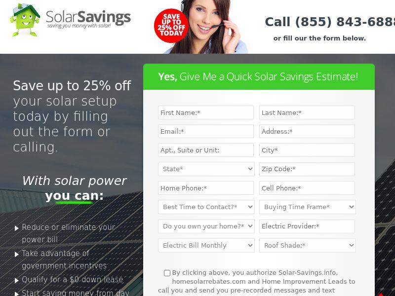 Solar Savings - Nationwide - US