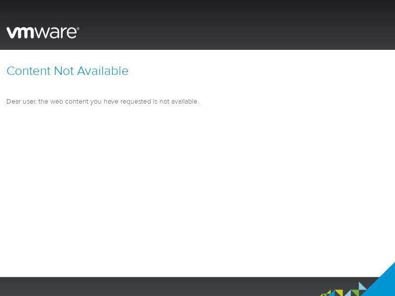 VMware WW CPS