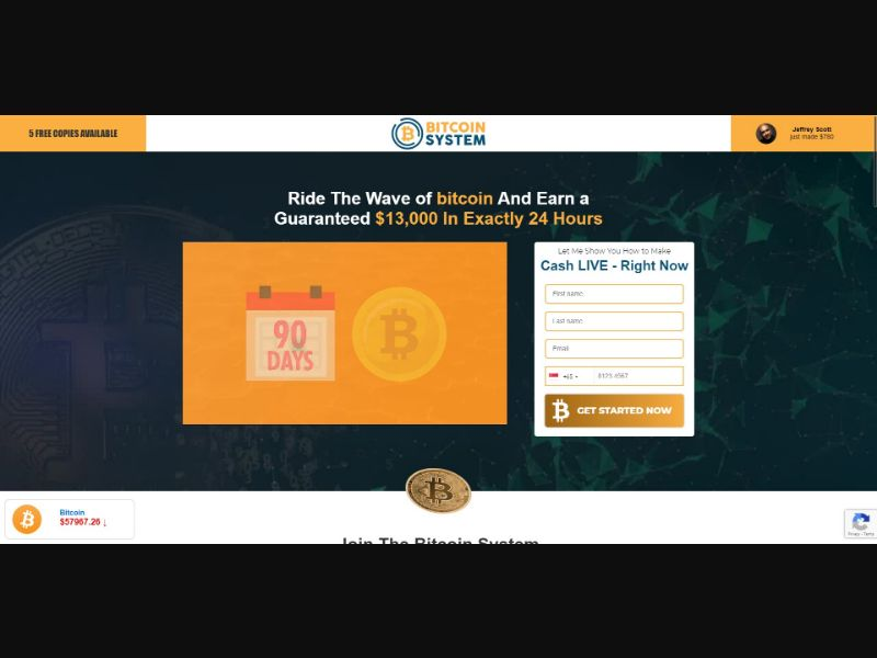Bitcoin System - $250 min CTC - VSL - Crypto - SS - [68 GEOs]
