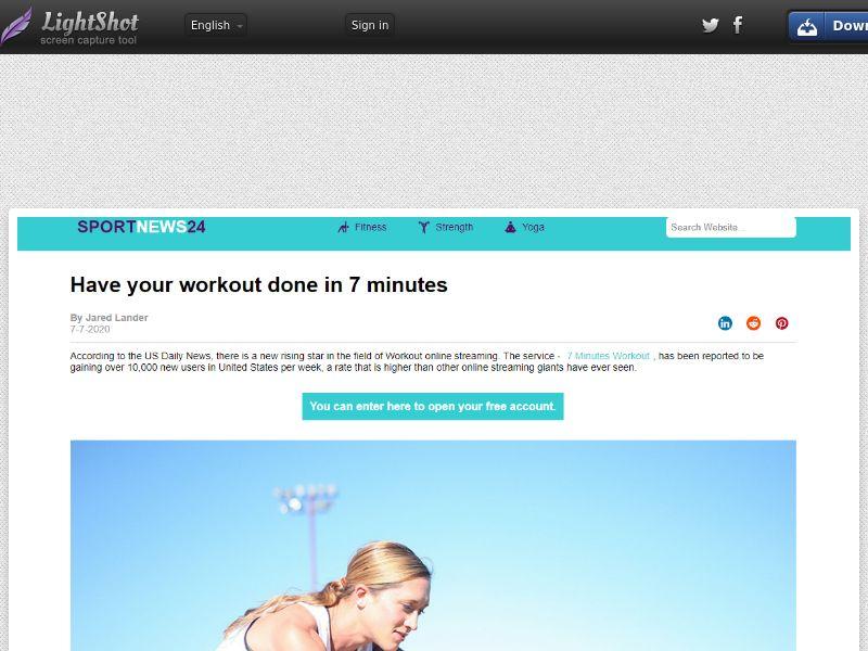 7 Minute Workout Plan - INCENT - DE