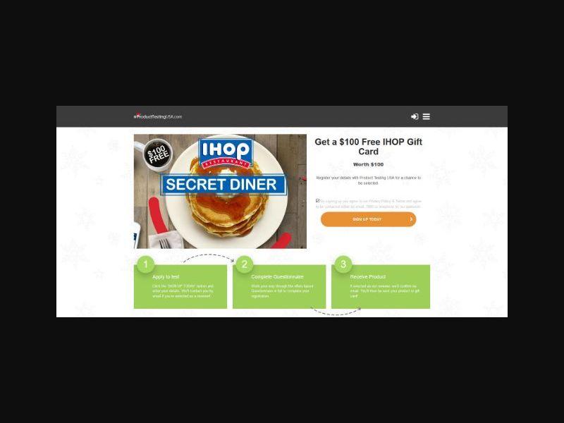 Product Testing - IHOP (US)
