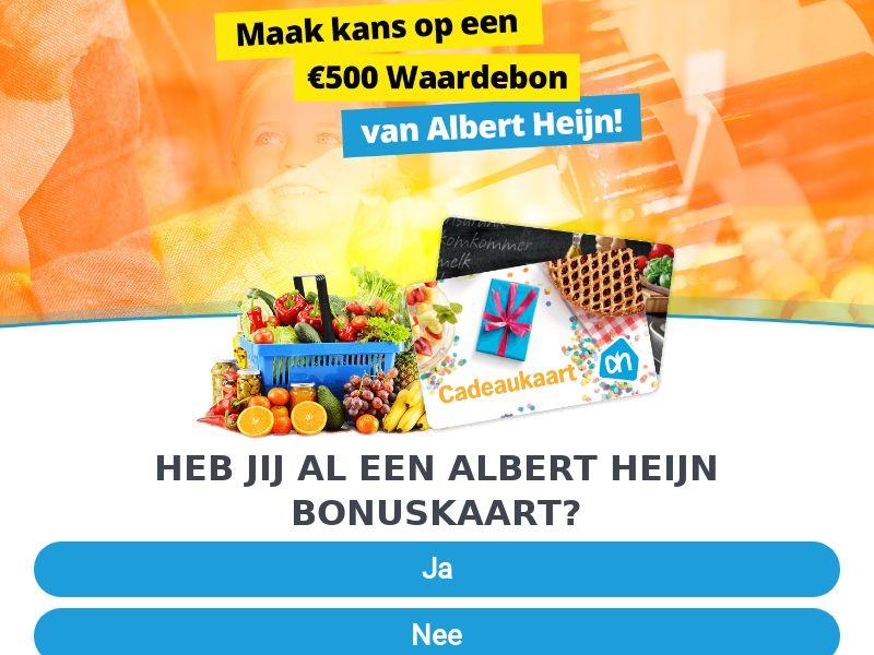 Sweepstakes Albert Heijn €500 - Supermarket - 1 Year - Homeware - CPL - [NL]