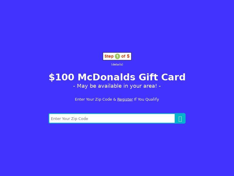 My Area Deals: McDonalds Gift Card