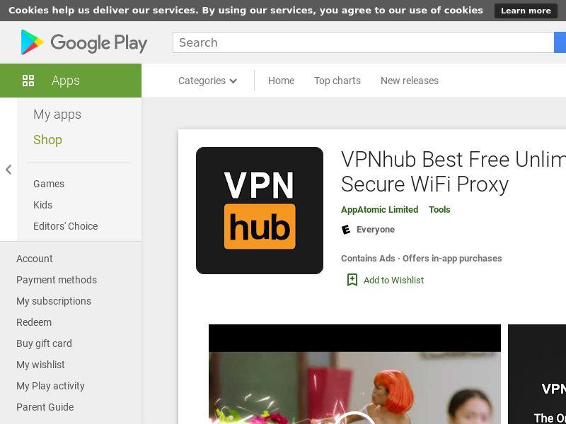 US - VPNhub Best Free Unlimited VPN - Secure WiFi Proxy - - (SCAPI)
