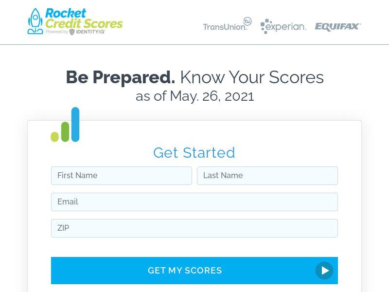 Rocket Credit Scores - $1 7 Day Trial | US, PR