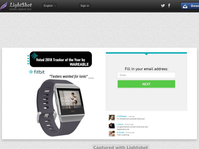 ForYouPromo - Test and Keep a FitBit (US) (CPL) (Personal Approval)