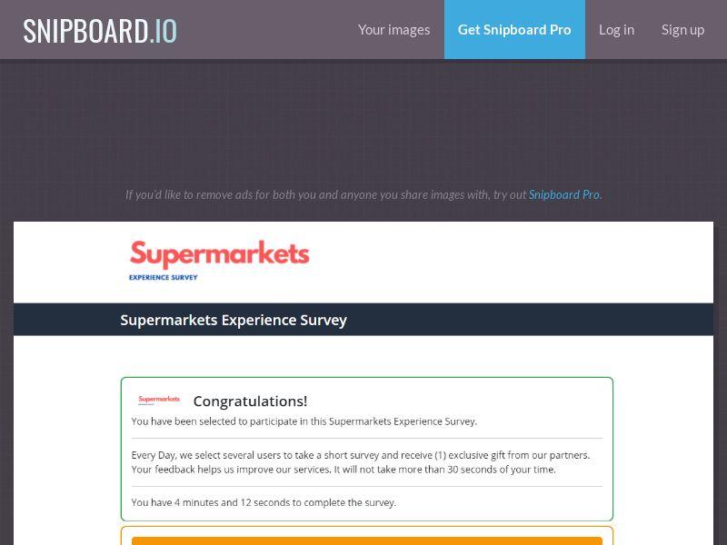 42762 - US - Supermarkets Experience Survey - DOI - 10 daily