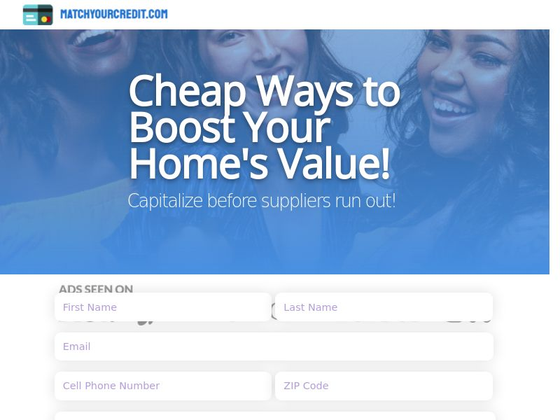 Matchyourcredit.com - Cheap Ways to Boost Your Home's Value!   US