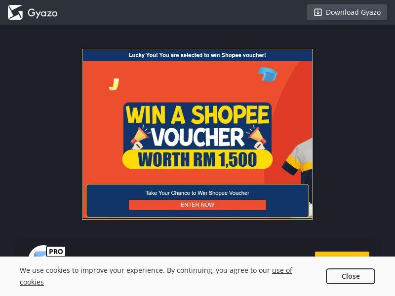 Shopee 1500 RM Voucher (MY) (CPL)