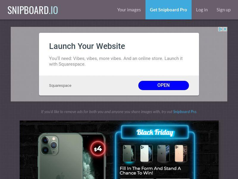 BigEntry - Black Friday iPhone 11 Pro v1 NZ - CC Submit