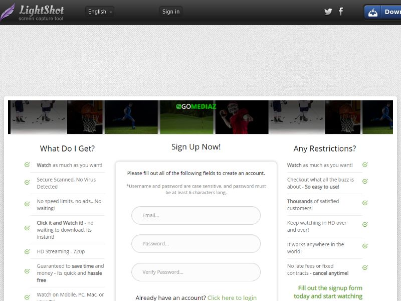 GomeDiaz AllSports Direct to Sign Up (Entertainment) (CC Trial) - United States