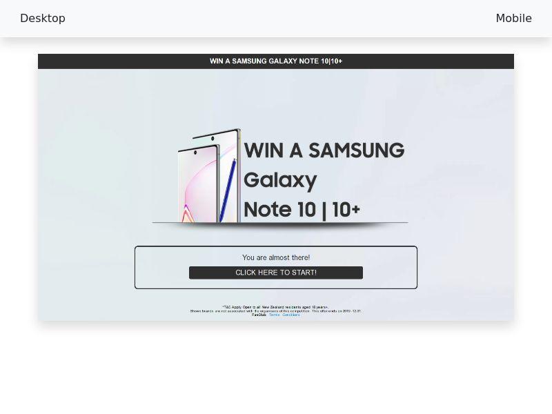 Sweepstake Samsung Galaxy Note 10|10+ - CPL/SOI - [NZ]