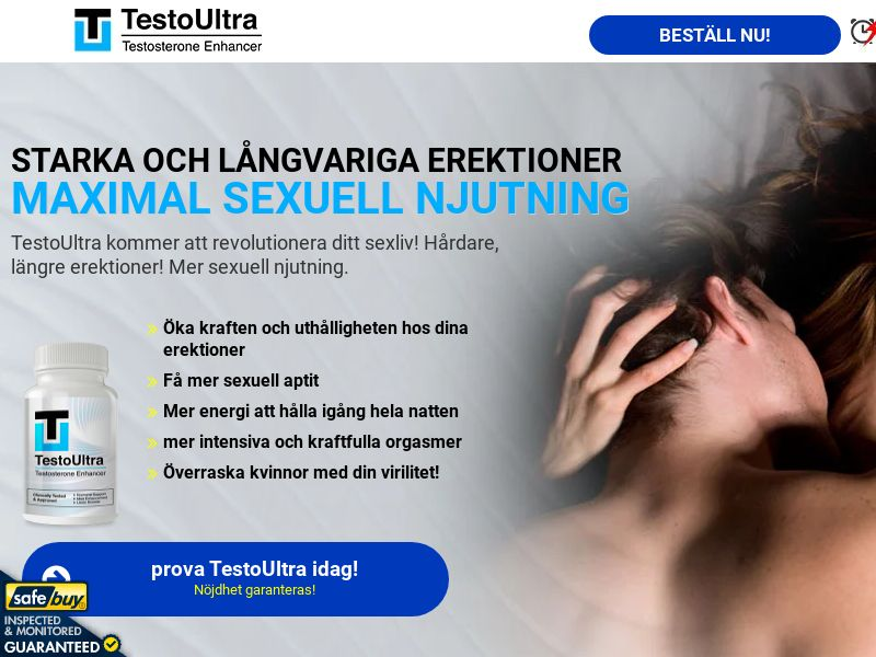 TestoUltra Swedish w/ Magnumax Upsell [SE] (Social,Banner,PPC,Native,Push,SEO,Search)(No Email) - CPA