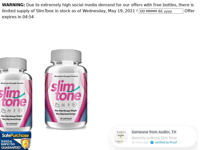SlimTone Keto Trial w/ Upsell - US (No PPC)