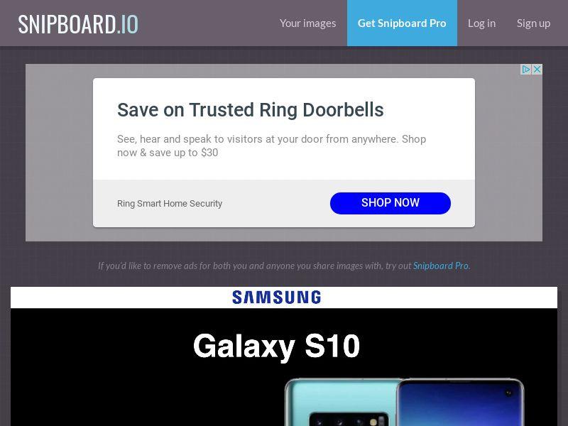 CoreSweeps - Samsung Galaxy S10 (Black) NO - CC Submit