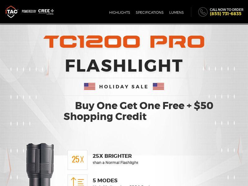 TC12OO PRO - Flashlight - CPA - [US]