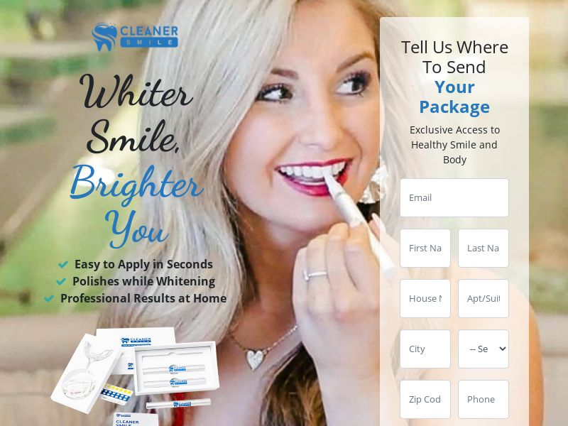 Cleaner Smile Teeth (Trial) (US) (Survey Allowed)