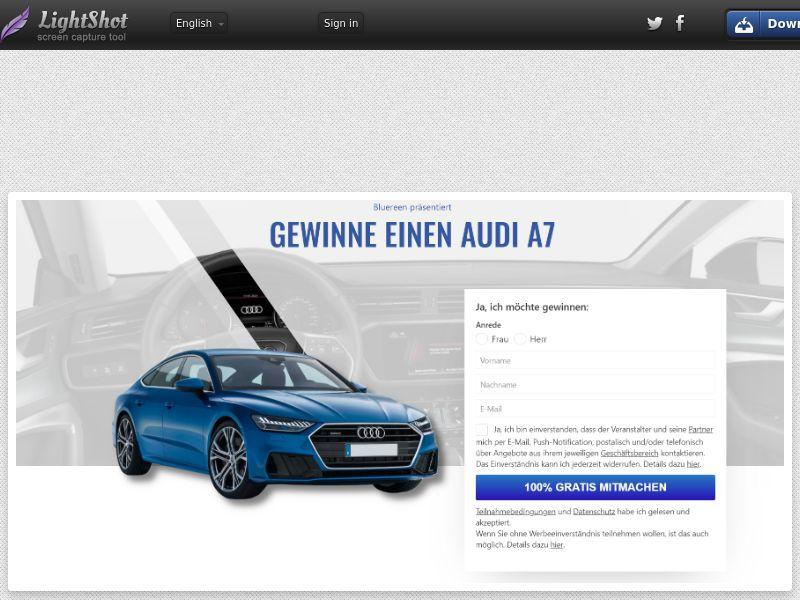 Datenschutz - Audi A7 (DE) (CPL) (Personal Approval)