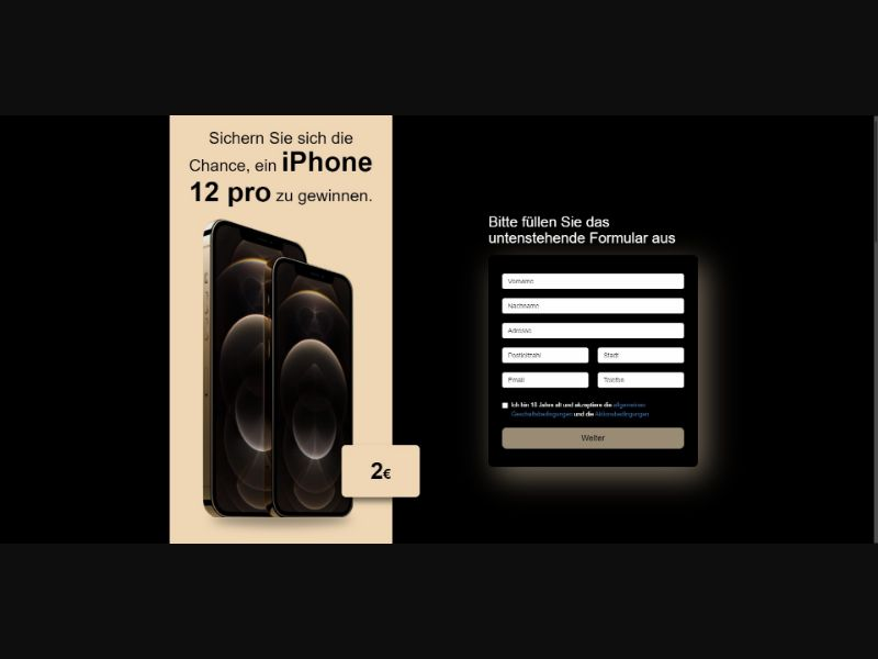 iPhone 12 Pro - Sweepstakes & Surveys - Trial - [DE, AT]