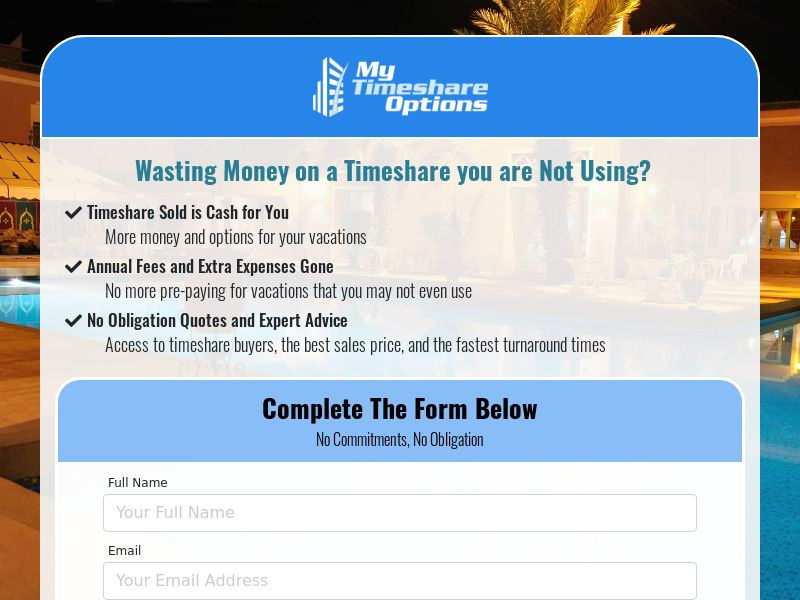 My Timeshare Options - RESALE, U.S. ONLY
