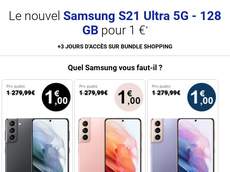 ClubBundleShopping - Samsung S21 (FR, BE) (Trial) (Personal Approval)