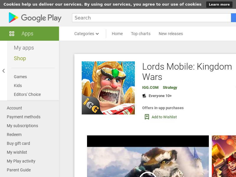 Lords Mobile: Kingdom Wars - Android (US) (CPE) (Incent) (Personal Approval)