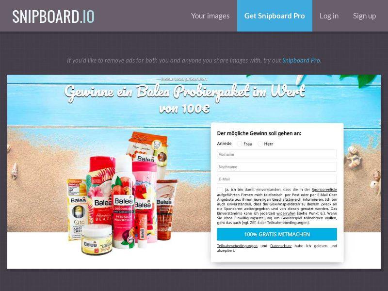 36826 - DE - CH - AT - 7Sections - BALEA Cosmetics - DE/AT/CH - DOI