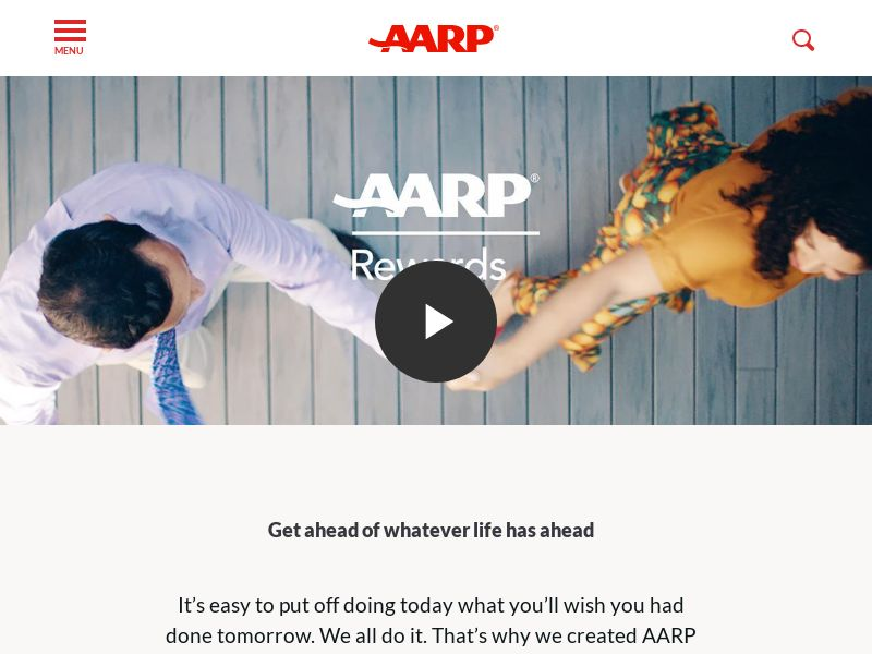 AARP Rewards (US) (CPL) (Incent) (Personal Approval)