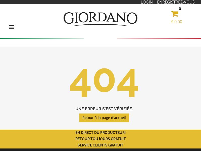 12654) [EMAIL] Giordano Vins Sunselection - BE(fr) - CPS