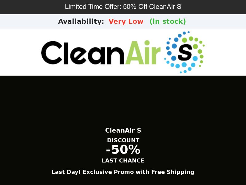 CleanAir S - True HEPA Air Purifier