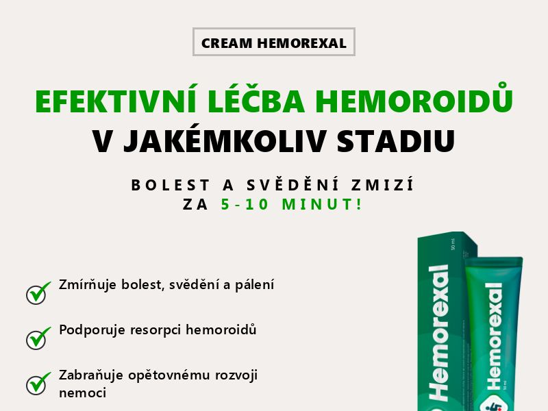 Hemorexal CZ - hemorrhoids treatment