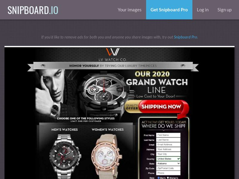 37494 - US - E-Commerce - LV Watch Co Trial - CC submit