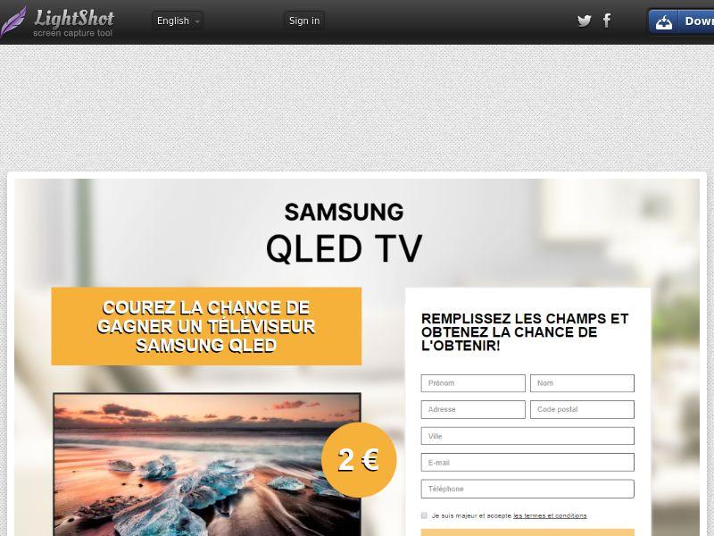 PremiumDeals Samsung Qled TV v1 (Sweepstake) (CC Trial) - France [FR]