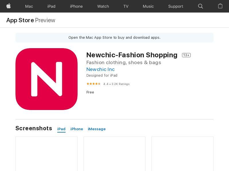 Newchic-Fashion Shopping iOS CPE