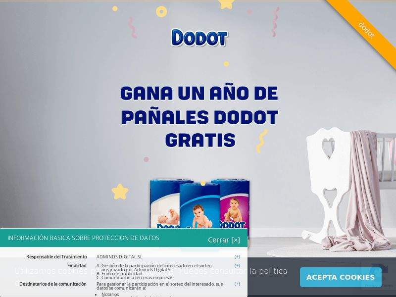 Dodot (ES), [CPL], Lotteries and Contests, House and Garden, For children, Single Opt-In, paypal, survey, gift, gift card, free, amazon, shop, gift