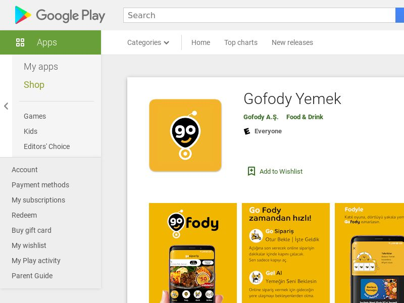 Gofody Yemek - Android (TR) (CPR)