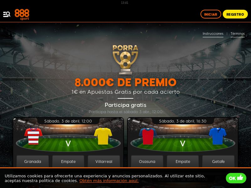 888 Casino - ES (ES), [CPA], Gambling, Casino, Poker, Sports Betting, Deposit Payment, million, lotto