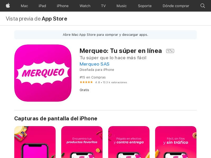 MX - Merqueo (iOS Free MX 77MB w/capping NRB PRIVATE) CPA - City and Region targeting - - (SCAPI)