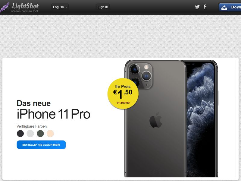 winlotsofthings iPhone 11 Pro (Sweepstake) (CC Trial) - Austria [AT]
