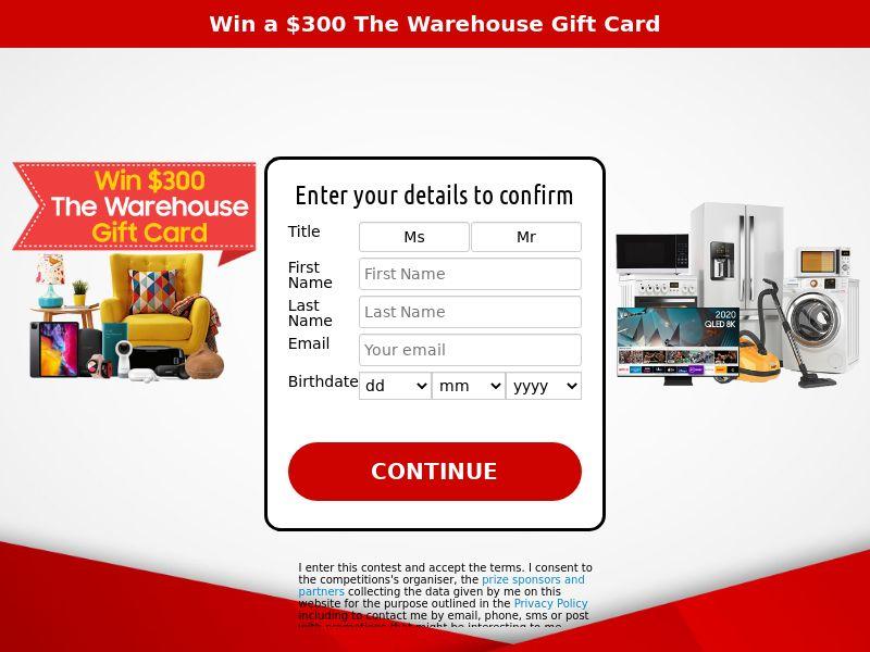 xlWin - Win a $300 Warehouse Gift Card (SOI) - Sweepstakes - NZ