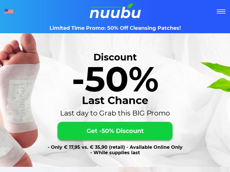 Nuubu - Detox Foot Patches (IT) (CPS)