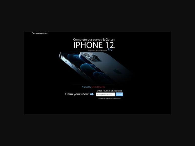 Win an iPhone 12 - SOI (US)